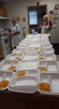 meals packaged in styrofoam containers